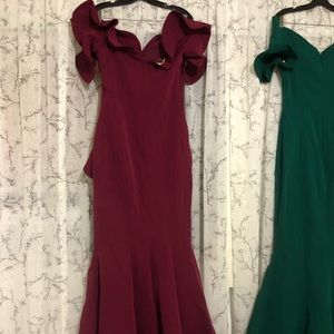 Dresses & Skirts - FOUD sarkis couture emerald green and red